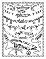 Coloring Jewelry Adult Jewels Gems sketch template