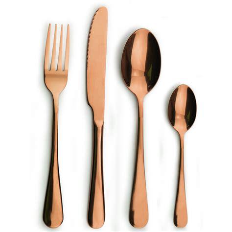 copper flatware titanium copper stainless steel flatware set gold copper cutlery buy copper cutlery gold