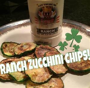 Ranch Flavored Zucchini Chips   Fat