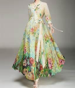 Long Sleeve Floral Maxi Dresses