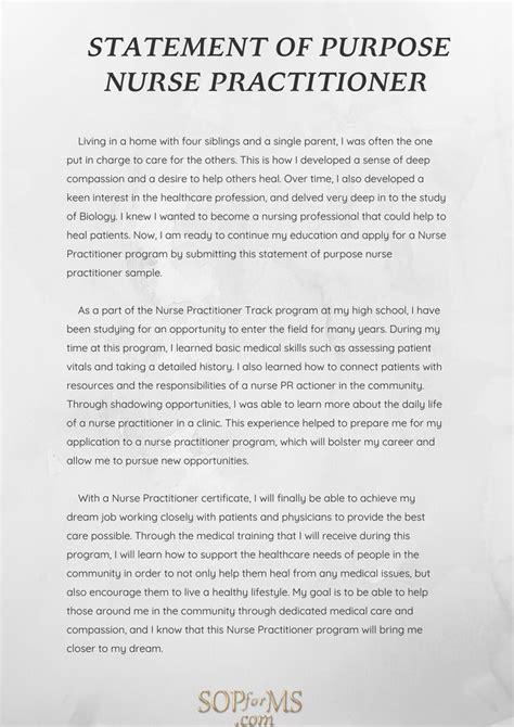 statement  purpose nurse practitioner sample