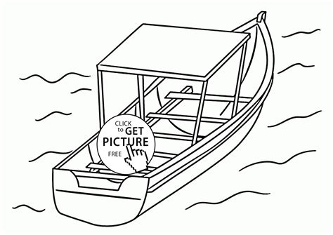 Big Boat Coloring Pages by Boat Coloring Page For Transportation Coloring