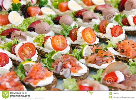 mixed mini canapes stock photo image of buffet fresh