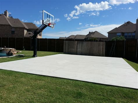 There Is Mark's Concrete Slab Court In His Backyard Next