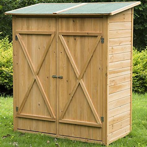 meuble armoire abri de jardin rangement outils exterieur en bois massif neuf 54 homcom http