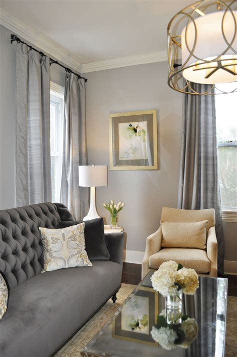 Using Gold Accents In Interior Design by Gray Traditional Living Room Gray Living Room