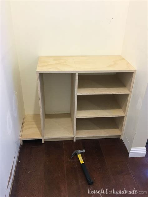 diy plywood closet organizer build plans page