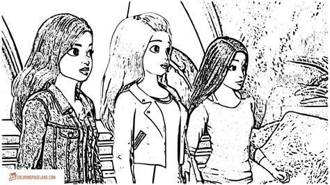 barbie coloring pages  printable black  white pictures