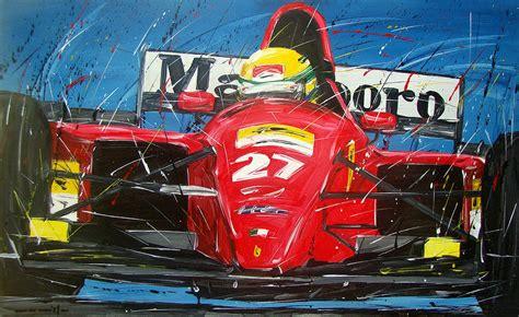See more ideas about art, ferrari, artwork. Ayrton Senna Ferrari 27 Painting by Roberto Muccilo