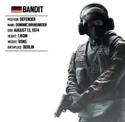 Siege Bandit Rainbow Six Operators