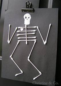 q tip skeleton my favorite holiday pinterest With q tip skeleton template
