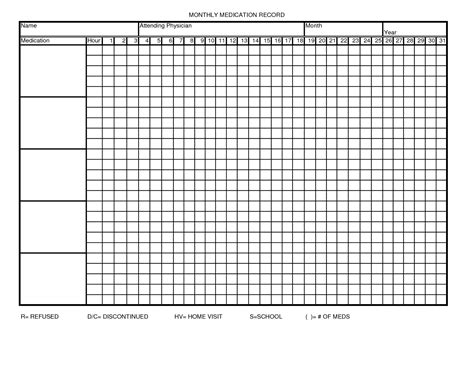 search results printable monthly medication