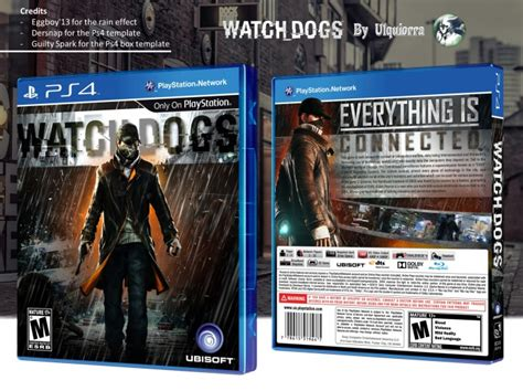 Watch Dogs Playstation 4 Box Art Cover By Ulquiorra