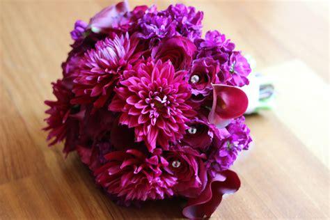 Pink Flower, Purple Wedding Flower, Bridal Bouquets