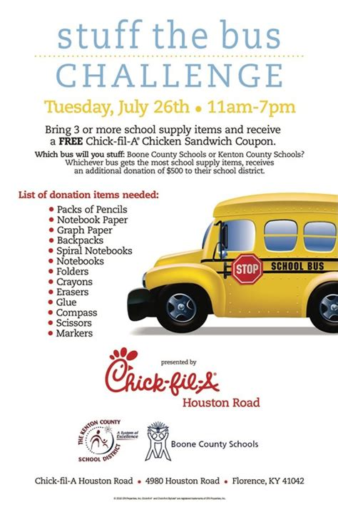 Stuff the Bus Competition at Chick-fil-A in Florence next ...
