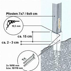 Bodenhülsen Für Pfosten : bodenh lsen f r pfosten 9x9 cm l nge 75 cm ohne schrauben ~ Watch28wear.com Haus und Dekorationen