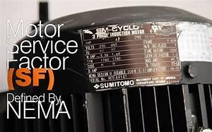 Motor Service Factor  Sf  Defined By Nema