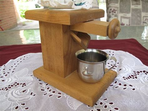 vintage amish handmade wood candy dispenser  ball