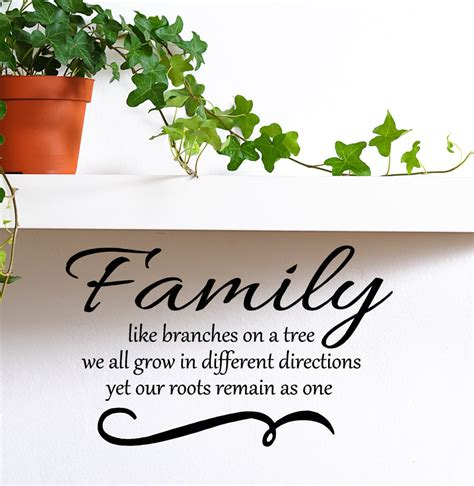 Family like branches on a tree we all grow in by