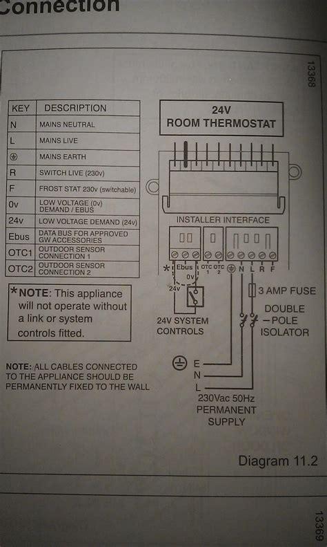 wiring cm   combi ultracom cxi glow worm diynot