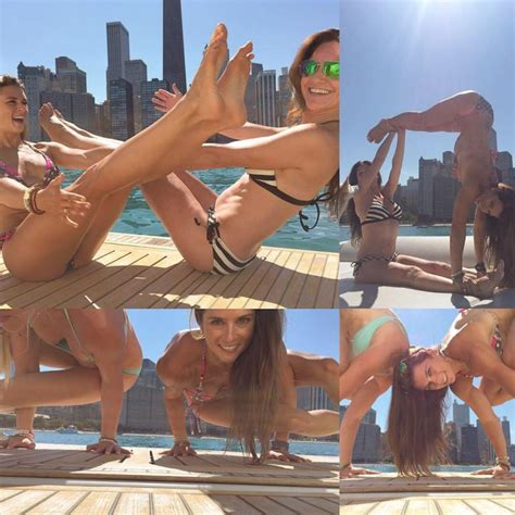 Bikini Boat Pictures by Pop Minute Danica Patrick Bikini Handstands Boat Photos