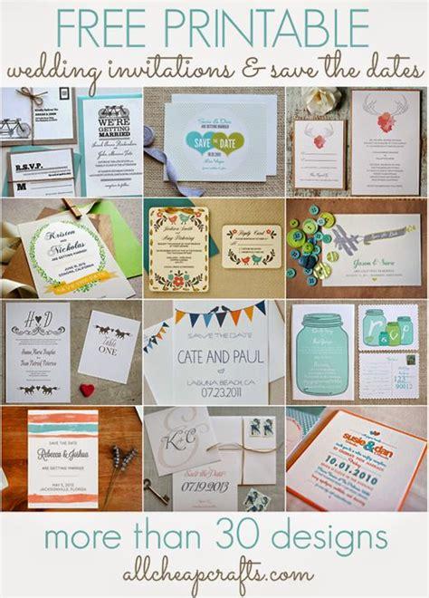 ideas  printable wedding invitations
