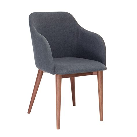 dip dining chair grey fabric dwell