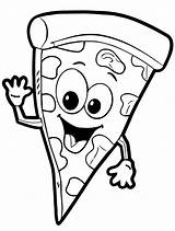 Pizza Coloring Pages Face Fun Colouring Printable Slice Shopkins Steve Happy Votes Adults sketch template