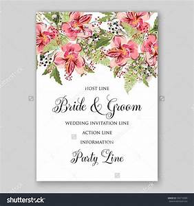 alstroemeria wedding invitation tropical floral printable With vintage flowers wedding invitations vector