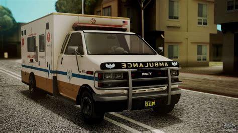 gta  brute ambulance ivf  gta san andreas