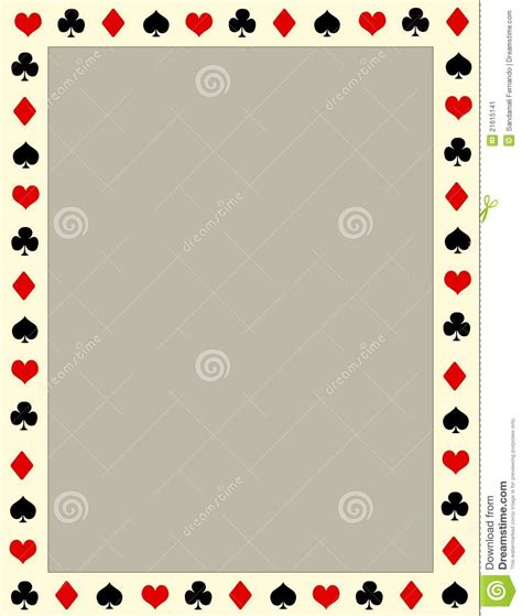poker border frame stock image image
