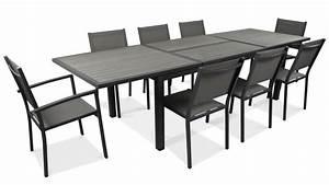 Table De Jardin Extensible Aluminium : salon table de jardin extensible 10 places ~ Teatrodelosmanantiales.com Idées de Décoration