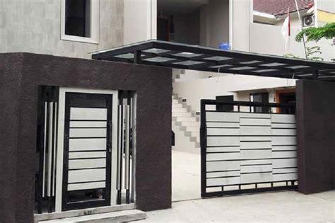 inspirasi desain pagar rumah minimalis  eye catching