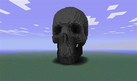 large minecraft sculpture proposal skull minecraft project