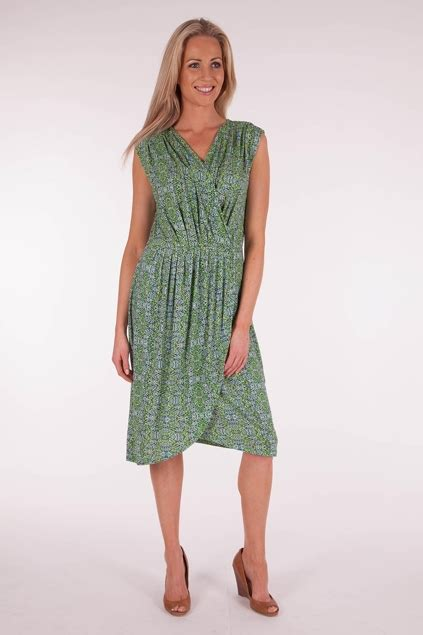 marco polo clothing drop shoulder wrap dress womens knee