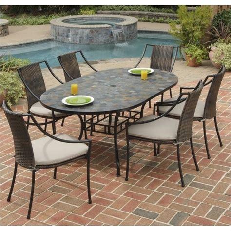 7 metal patio dining set in black 5601 338