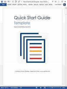 Quick Start Guide Template  Ms Word   U2013 Templates  Forms