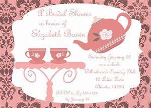 Bridal shower tea party invitations : bridal shower tea ...