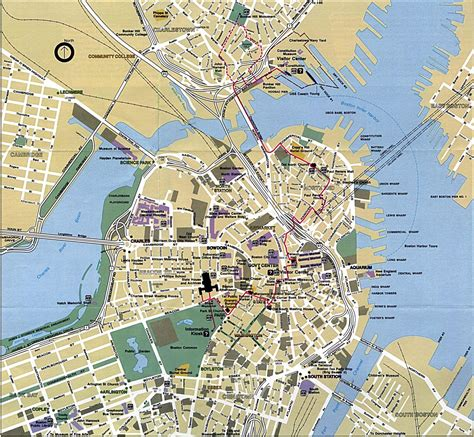 large boston maps     print high