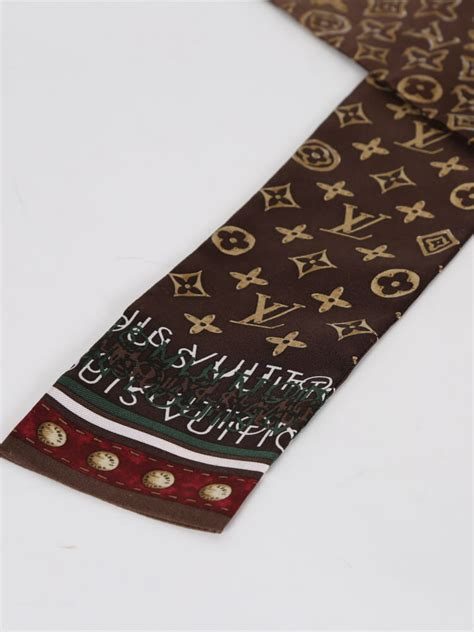 louis vuitton monogram brown silk bandeau luxury bags