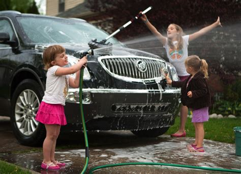 for kids car wash general motors suggests washing car as mother s day gift