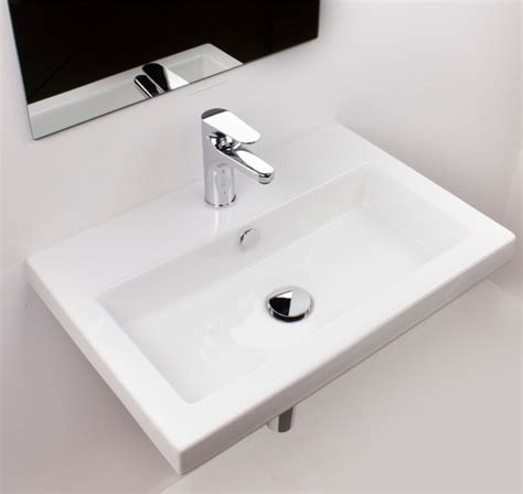 Modern Wall Mount Bathroom Sinks beautiful wall mount ceramic bathroom sink modern
