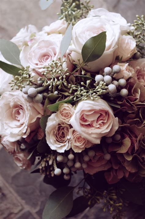 romantic and vintage bridal bouquet botanystudio botany