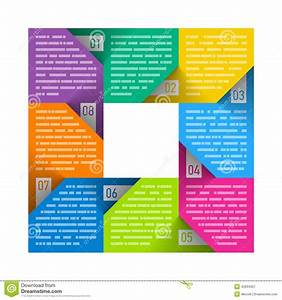 Eight Parts Cycle Diagram Template Stock Vector