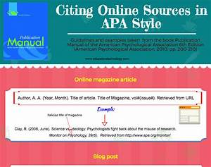 This Is How To Cite Online Sources In Apa Format