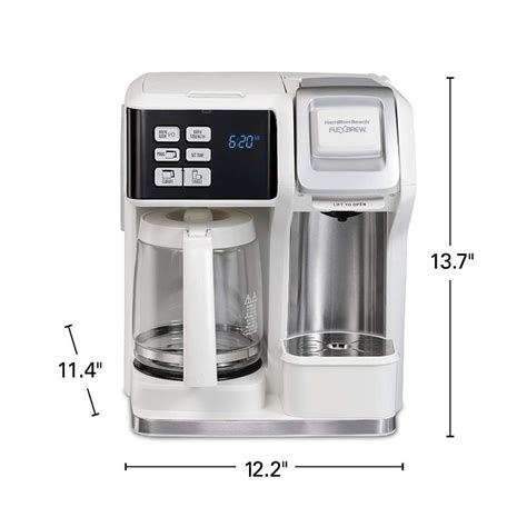 There is no constant hot water tank inside the machine like other single serve coffeemakers. Hamilton Beach FlexBrew Coffee Maker, Single Serve & Full Pot | eBay