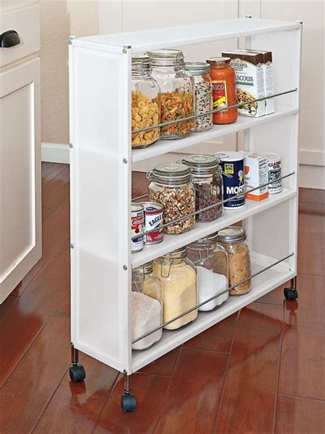 slim frosted rolling shelves portable cabinet
