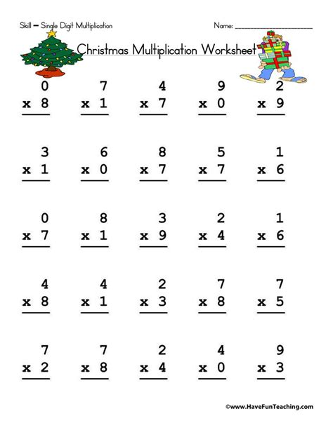 multiplication worksheets page 5 of 6 have fun teaching