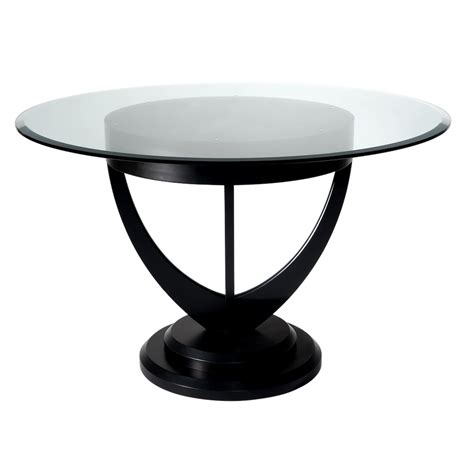 black sofa table lalique dining table with sweeping lines and