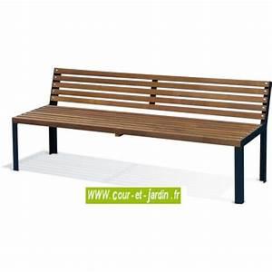 Salon De Jardin Bois Et Metal : banc de jardin bois et m tal ext rieur design pas cher bancs de jardin ~ Teatrodelosmanantiales.com Idées de Décoration